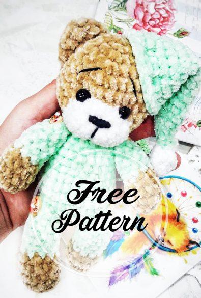 hakeln-amigurumi-teddybar-in-pyjamas-frei-muster